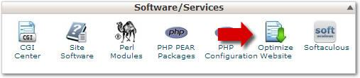 cPanel - Optimize Website