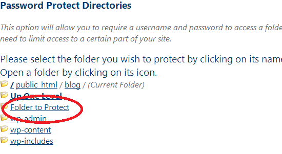 Click Folder to Protect