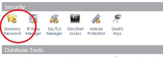 Cpanel Directory Password