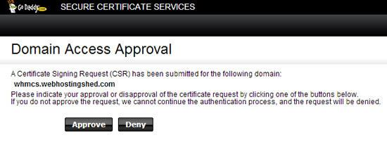 ssl approval