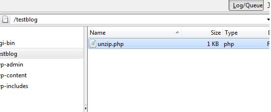 upload unzip