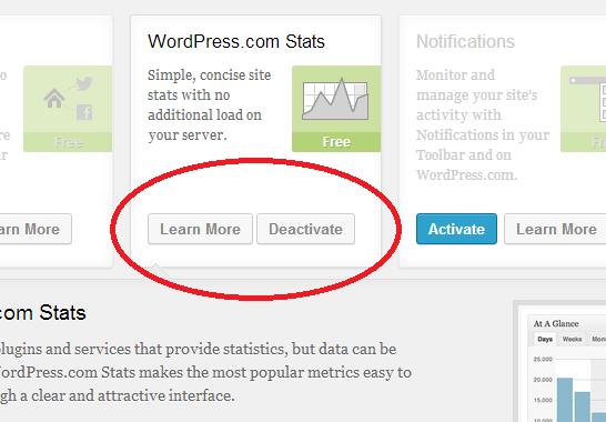 enable wordpress stats