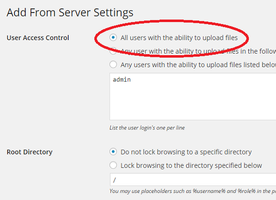 allow users to upload files