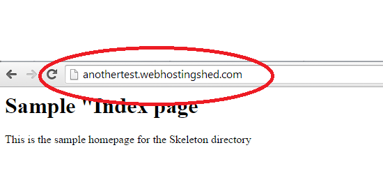 accessing the subdomain