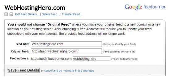 feedburner feed source url