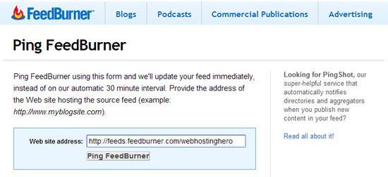 google feedburner ping