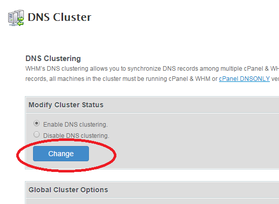 enable DNS clustering DNSONLY