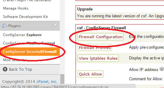 edit firewall config