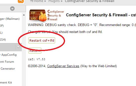 restart firewalls