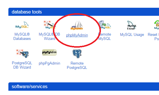 enter source phpMyAdmin