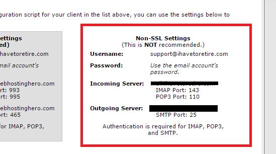 get SMTP details