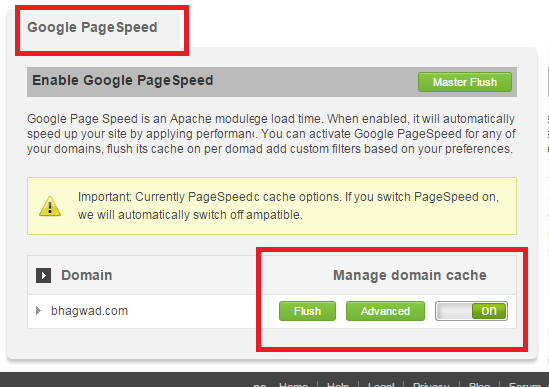 enable mod_pagespeed