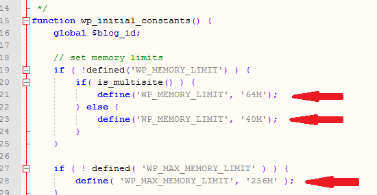 memory limits defined
