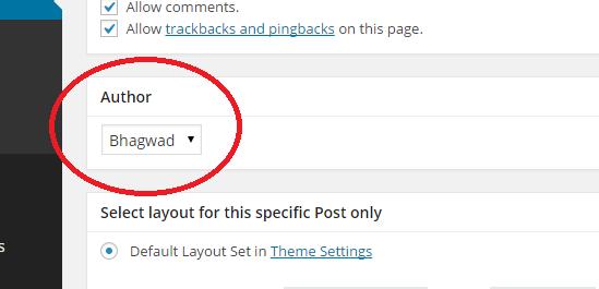 change author in edit post