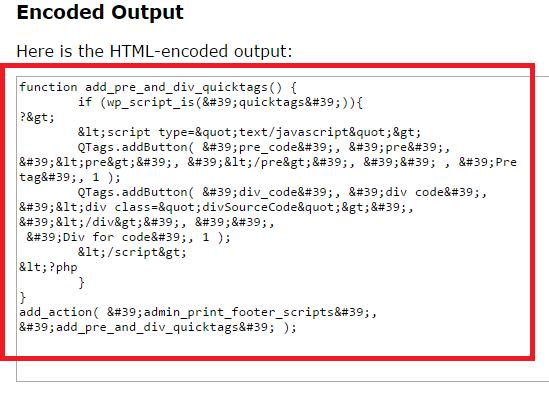 encoded HTML