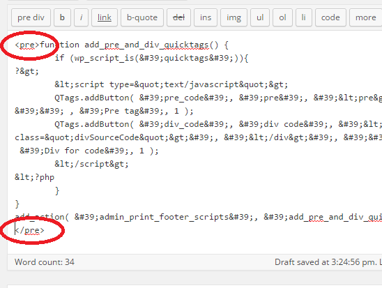 paste to HTML editor and add tags