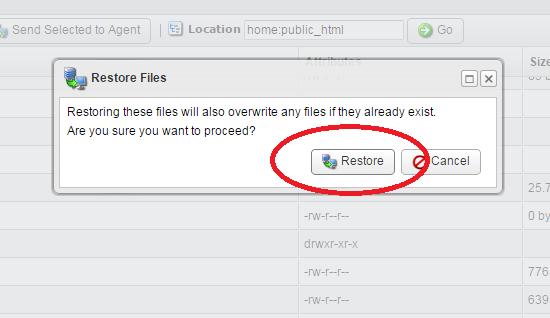 hit restore