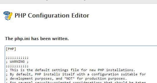 php file written