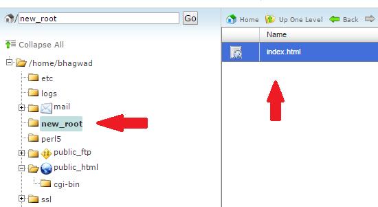 create new root folder