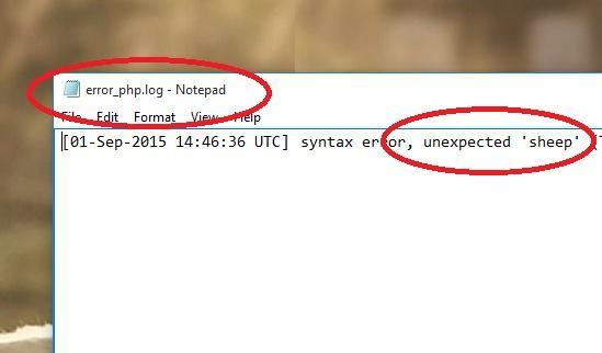error logged