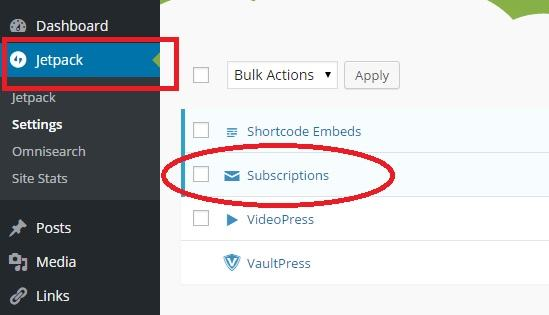 subscriptions module jetpack