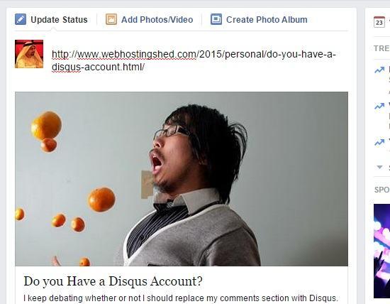 wrong facebook share