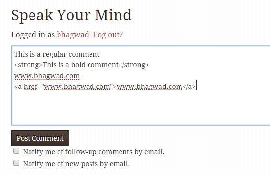 html comment