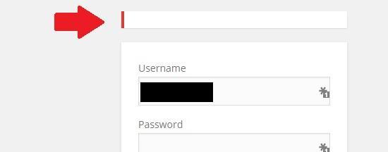 login errors vanished