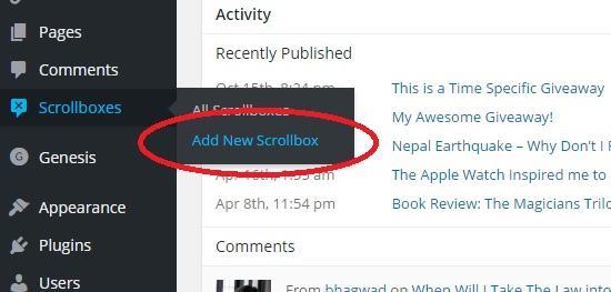 add new scrollbox