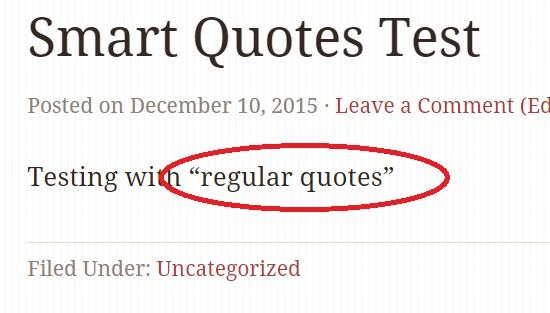 converted into regularquotes