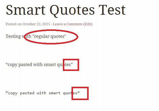 existing smart quotes not replaced