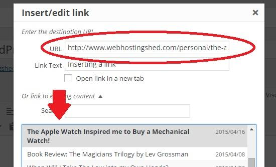 inserting a link