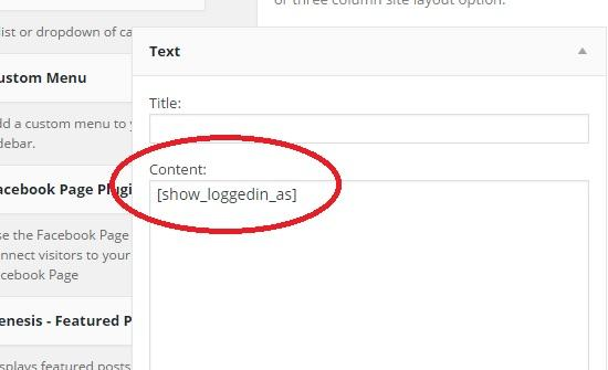 use shortcode in text widget