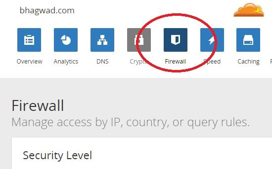 cloudflare firewall