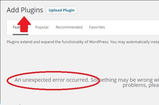 adding plugins not possible