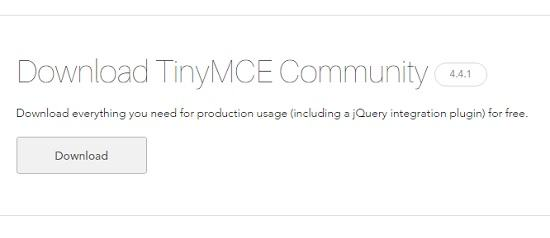 download tinymce