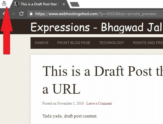 Share draft page in WordPress
