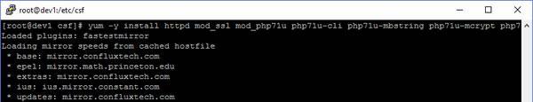 centos install apache php7 yum