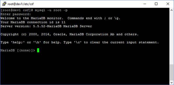 mariadb mysql command line tool