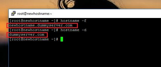 Setup the hostname and FQDN on CentOS