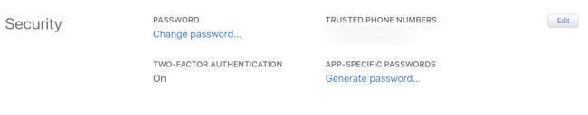 Apple Application Specific Passwords