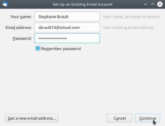 thunderbird add icloud email account