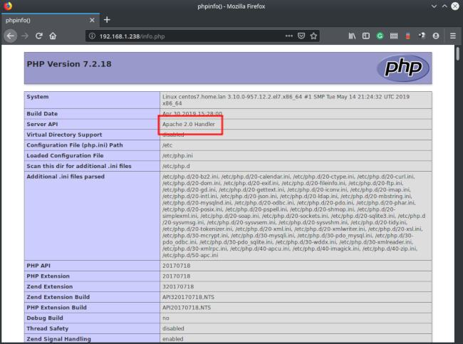 php apache handler
