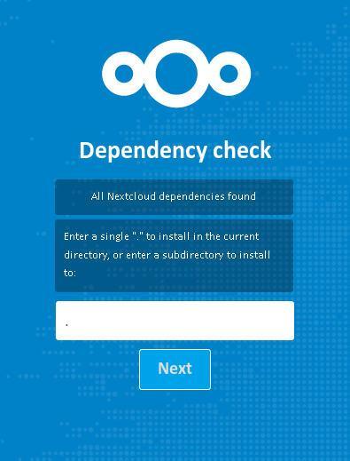 nextcloud installation directory
