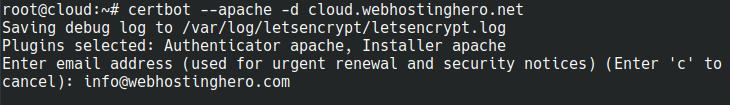 ubuntu lets encrypt certbot