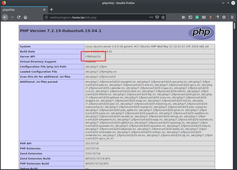 ubuntu php-fpm virtual host