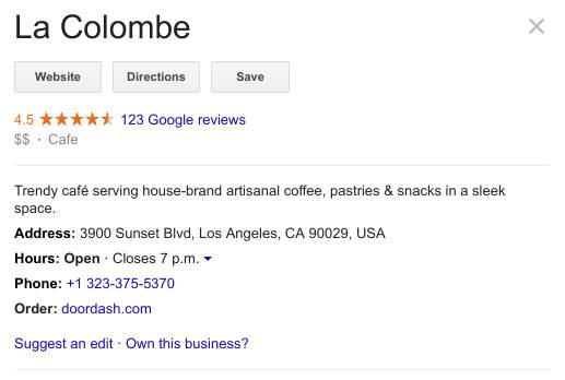 google schema business hours
