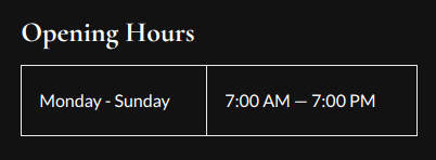 wordpress show opening hours footer